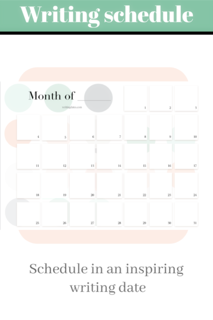 Undated monthly calendar printable