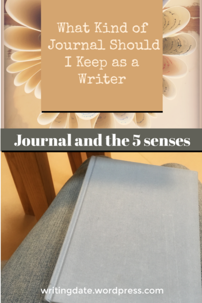 A writer's journal - A journal for landscapes and setting or one to capture scenes with the five senses or a notebook filled with snippets of lyrics and thoughts