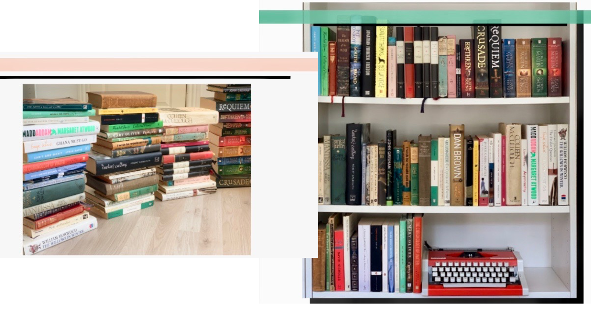 How I organize my books with some of the steps from the KonMari method.