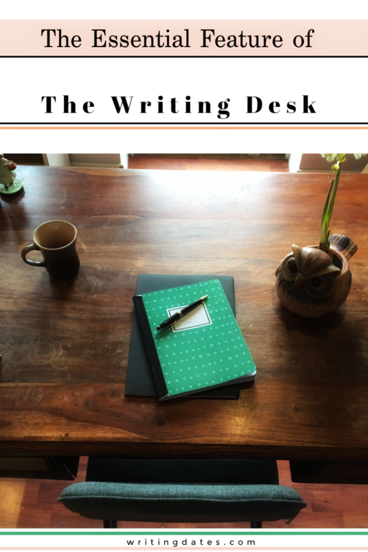 That is perhaps the whole moral of this post -  the writing desk is where you write. And that is the most special feature of the writing desk.