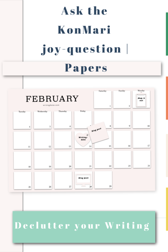 Ask the KonMari joy - question for papers. Declutter papers